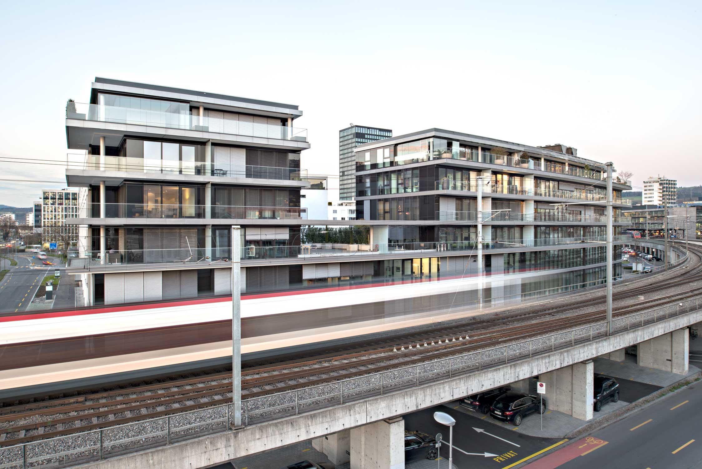 Aussenaufnahme Lakeside Zug Architekturfotografie Regine Giesecke