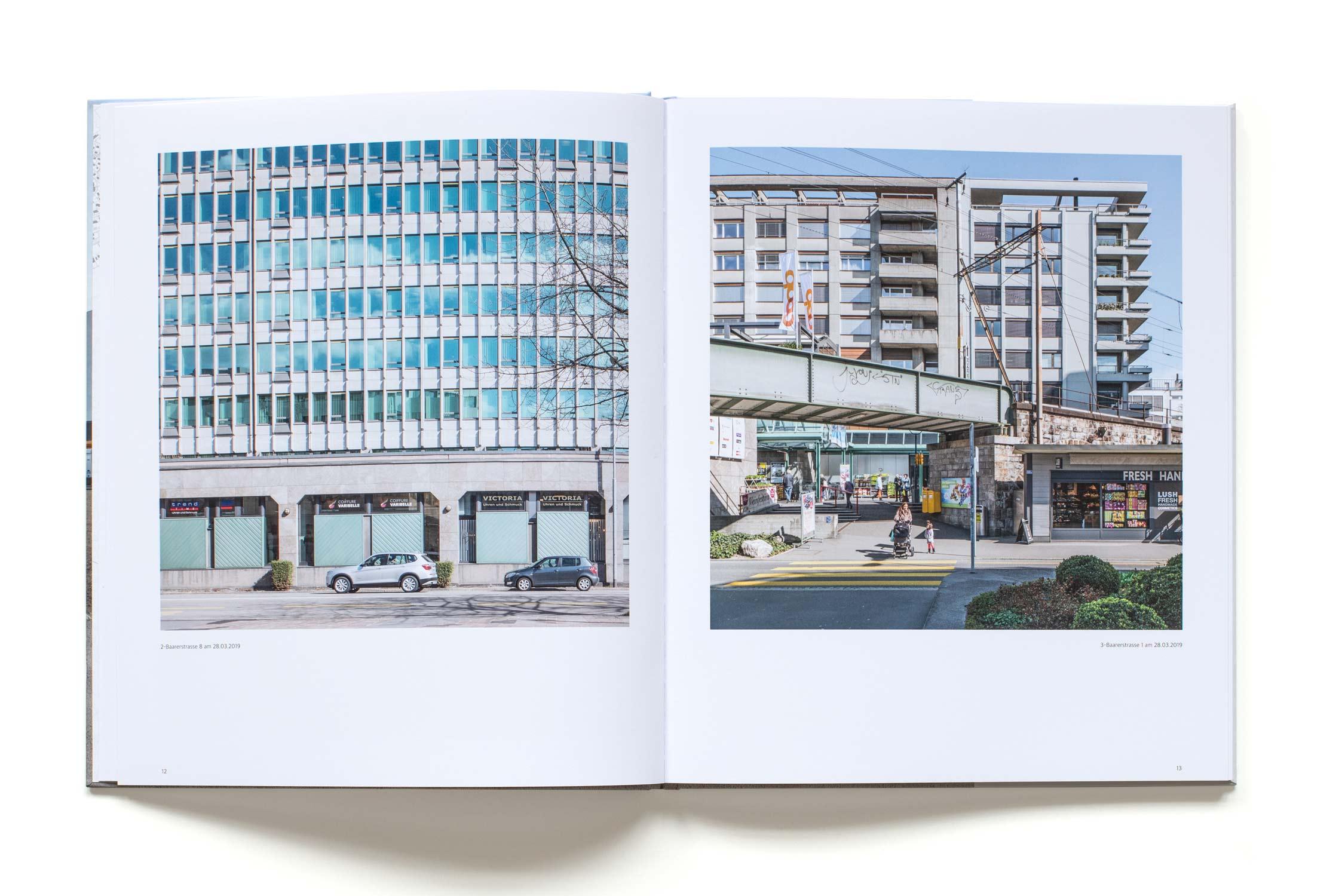 Innenseite Buch Zuger Ansichten 2020 von Regine Giesecke