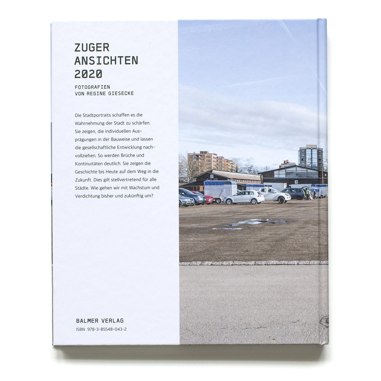 Rueckseite Buch Zuger Ansichten 2020 von Regine Giesecke